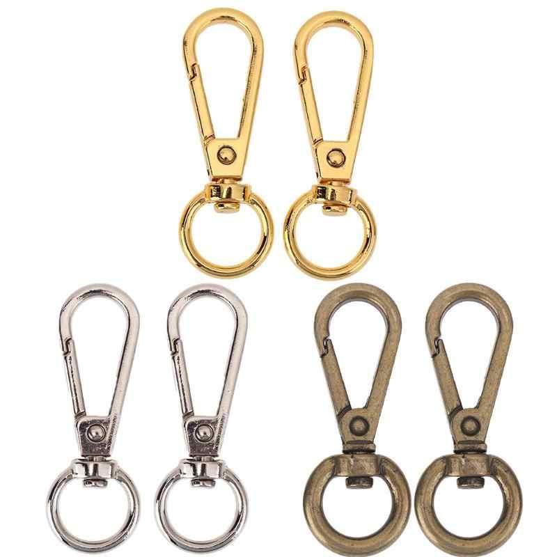 โลหะ 4pcs Vintage กระเป๋ากระเป๋าถือ Buckle Snap Hook กระเป๋า Clasp DIY Key Chain อุปกรณ์ฮาร์ดแวร์คลิปหัวเข็มขัด