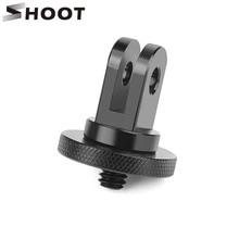 SHOOT Aluminum Alloy 1 4 inch Mini Tripod Adapter Mount for GoPro Hero 7 5 6