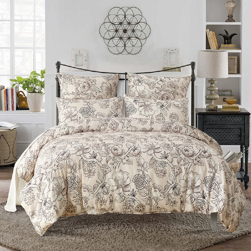 lai yin sun hot hot sale twin queen king size size bedding sets pastoral printed floral. Black Bedroom Furniture Sets. Home Design Ideas