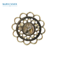 SANSUMMER Ring Jewelry Girl Adjustable Vintage Hollow Flower Temperament Ring Fashion Party Elegant Exquisite Ring 3351