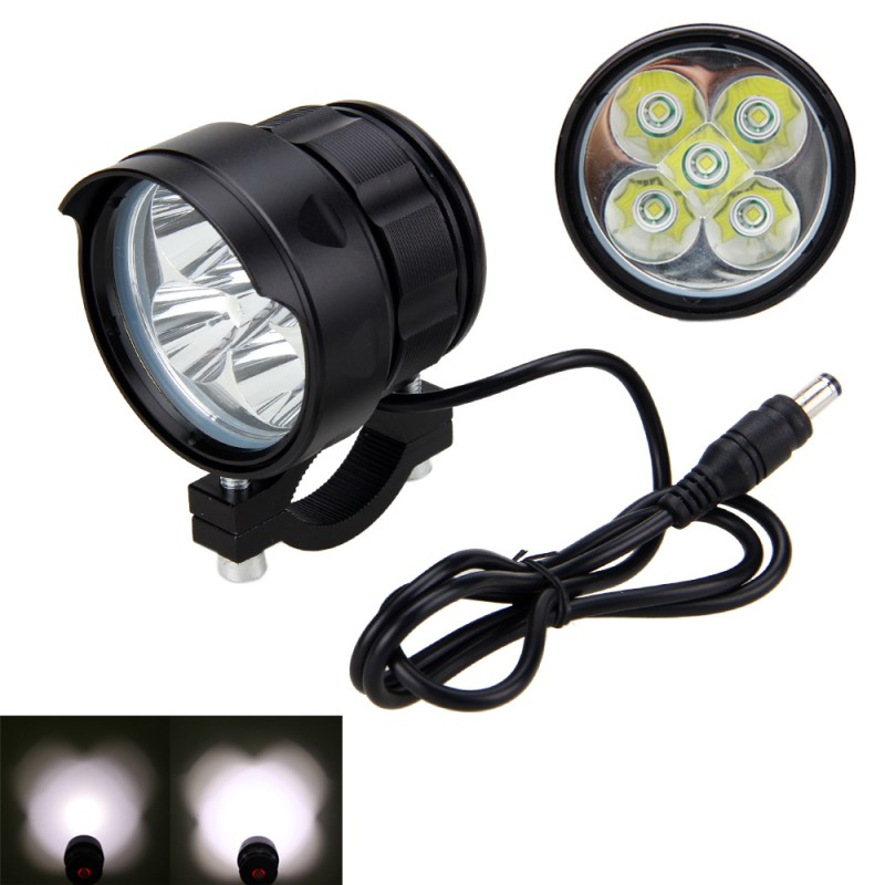 15000 Lumens Safety MTB Light 5x XM-L T6 LED Bike Lamp Bright 3 Modes Cycling Headlight Torch Waterproof Bicycle Accessories
