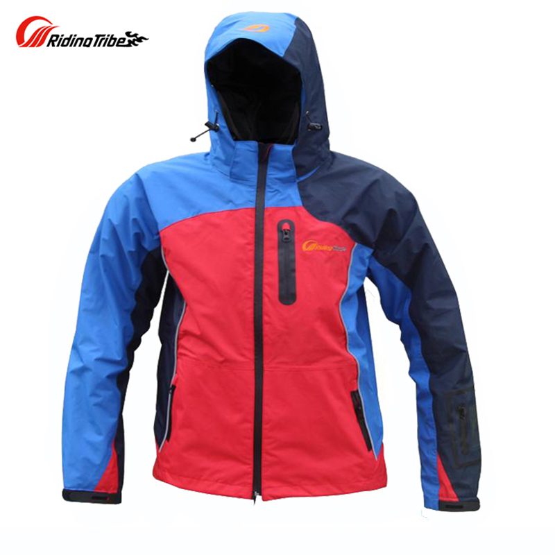 Riding Tribe Motorcycle Protective Raincoat Motorbike Warm Racing Rain Jackets Windproof Road Travel Clothing 5 Protectors benkia impermeable two piece raincoat women men suit rain coat pants motorcycle rain gear riding jackets
