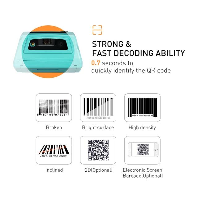Android PDA Handhled reçu autocollant imprimante POS Terminal 58mm imprimante d'étiquettes thermiques Bluetooth NFC 3G FRFE SDK collecteur de données 5