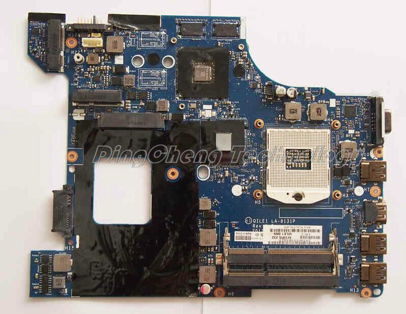 SHELI laptop Motherboard for Lenovo E430 LA-8131P with 4 video chips non-integrated graphics card DDR3 100% tested Fully