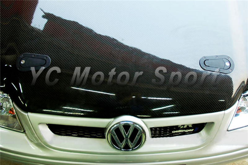 Car Accessories Carbon Fiber Glossy Hood Bonnet Aero Catch wtih Locking Reinforced Nylon Fit For Universal Model Stying