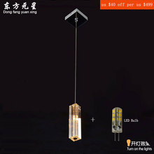 Pendant Light Crystal k9 G4 LED 12V lamp Modern Column Design Hanging Corridor Lamp