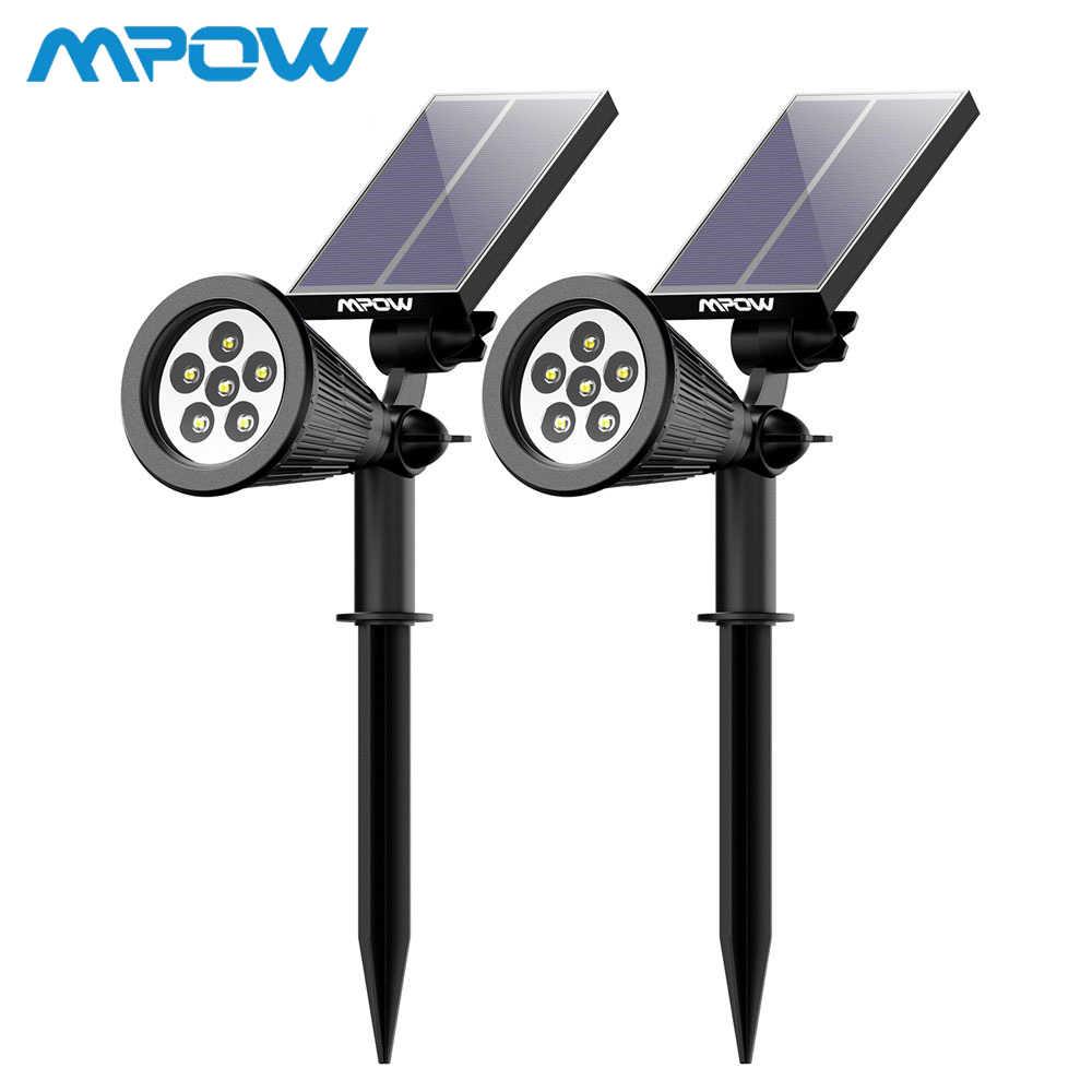 2 Pack 6 Led Mpow Lampu Solar Taman Pemandangan Lampu Sorot Isi Ulang Kolam 180 Angle Adjustable Panel Tenaga Surya Solar Panel Tahan Air Lampu Rumput Lampu Aliexpress