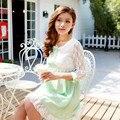 Verano del estilo del cordón sólido vestidos maternidad ropa para el embarazo ropa para mujeres embarazadas Gravida Wear 2015 nueva moda