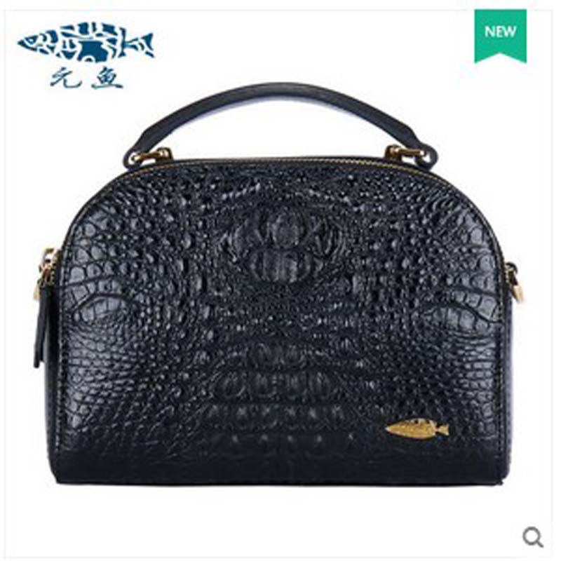 yuanyu new 2017 new hot free shipping crocodile women handbag single shoulder bag thailand crocodile leather bag Shell package yuanyu 2018 new hot free shipping real thai crocodile women handbag female bag lady one shoulder women bag female bag