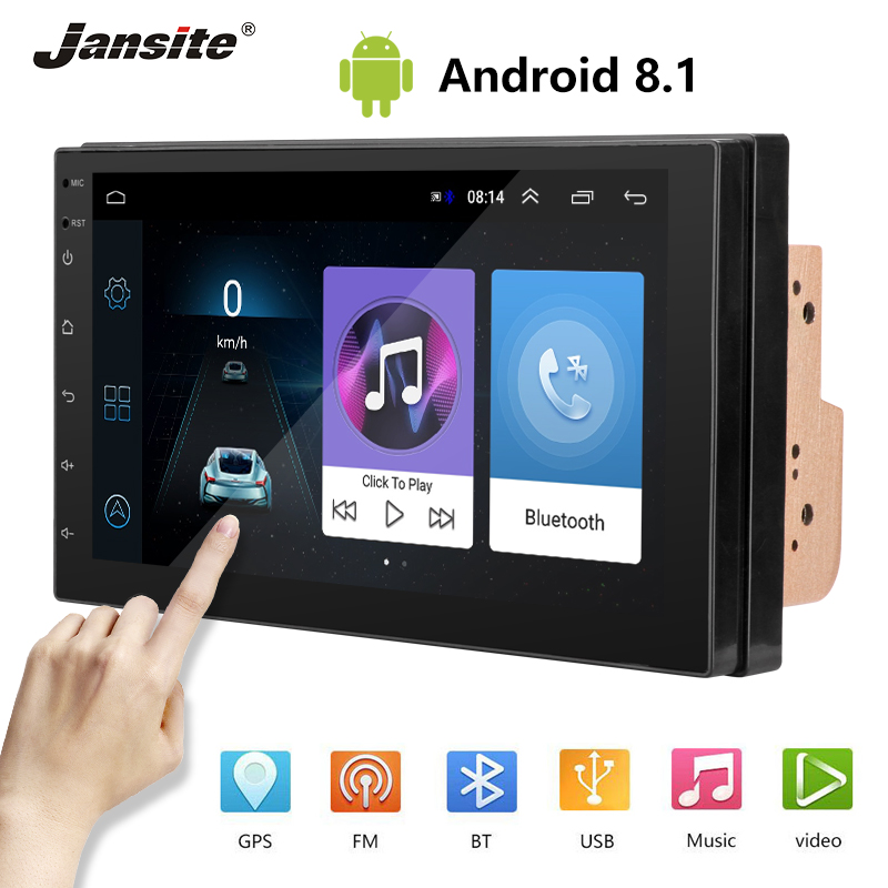 """Jansite 2din 7"""" Android player car radio Android 8.1 Digital touch screen Reverse camera WIFI GPS FM Bluetooth Mirror Link USB-in Car Multimedia Player from Automobiles & Motorcycles    1"""
