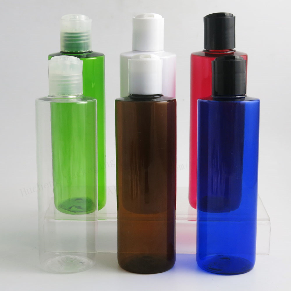 20 X Empty 250ML Plastic Bottles With Disc Top Flip Cap 8OZ Containers For Shampoo Lotions Liquid Packaging