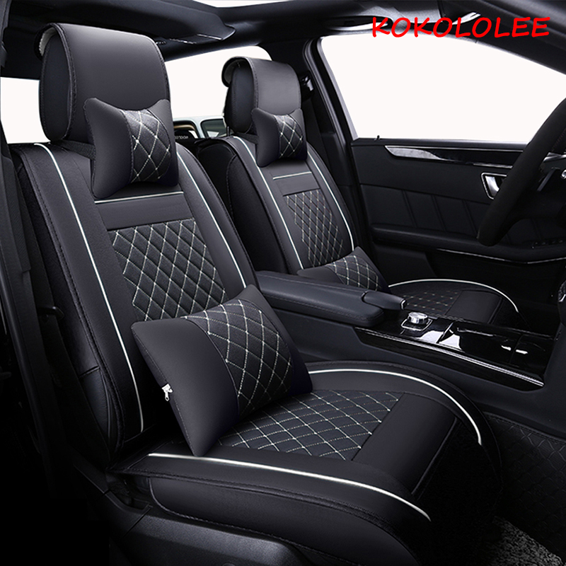 New Luxury PU Leather Auto Universal Car Seat Covers Automotive Seat Covers for toyota lada kalina granta priora renault logan premium pu leather car seat covers universal autoyouth full synthetic set seat covers for toyota lada renault