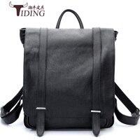 Коровья кожа Подростковая мужская сумка для ноутбука рюкзаки для мужчин Натуральная Кожа винтажный рюкзак для путешествий повседневные шк