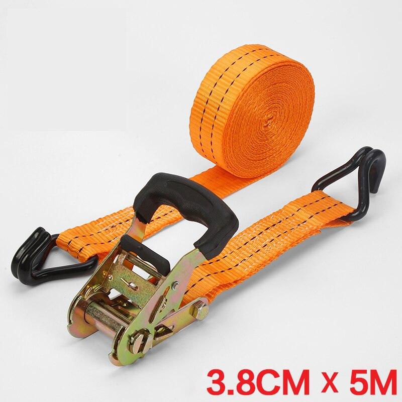 5m 6m Length 30mm 38mm Width Car Luggage Cargo Polyster Tape Bind Auto Bundling Belt Ratchet Tie Down for 2000kg