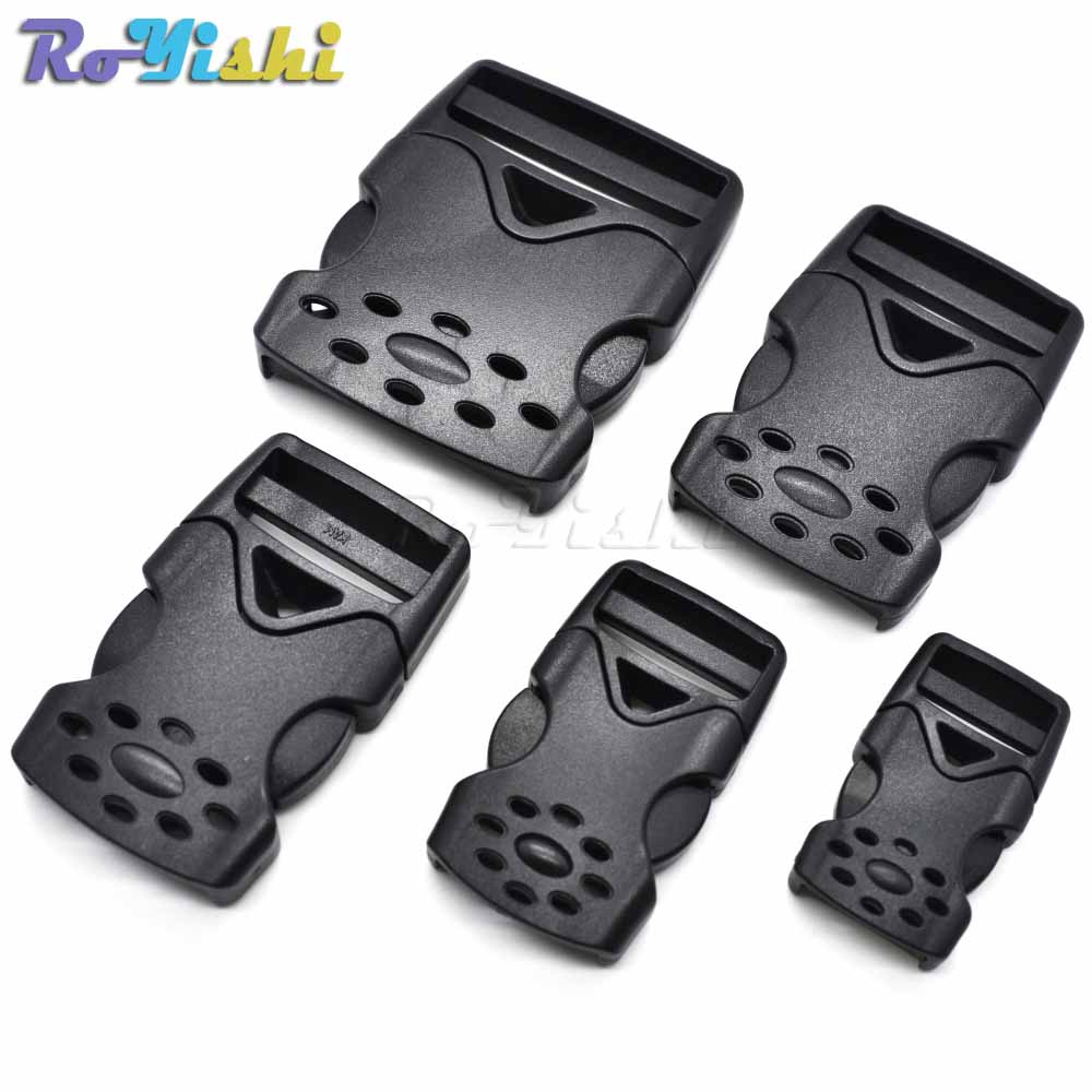 2pcs/pack Plastic Inner Hook Buckle For Tactical Backpack Travel Bag Webbing 20mm 25mm 32mm 38mm 50mm