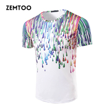 Brand Men's Fashion 3D Printed T-shirts Men's Fitness Casual Tops Male Summer Cotton Short Sleeve Funny T-shirt Homme  ZM0177