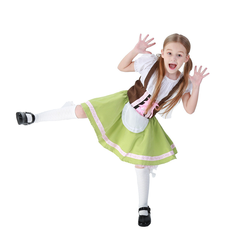 0da53441aefc Kids Girls Oktoberfest Fancy Dress Heidi German Children Beer Maid Costume  Bavarian Dirndl Dress-in Girls Costumes from Novelty & Special Use on ...