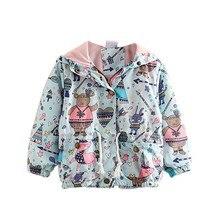 Осеннее пальто для маленьких девочек; милая детская верхняя одежда с принтом с героями мультфильмов; пальто для девочек