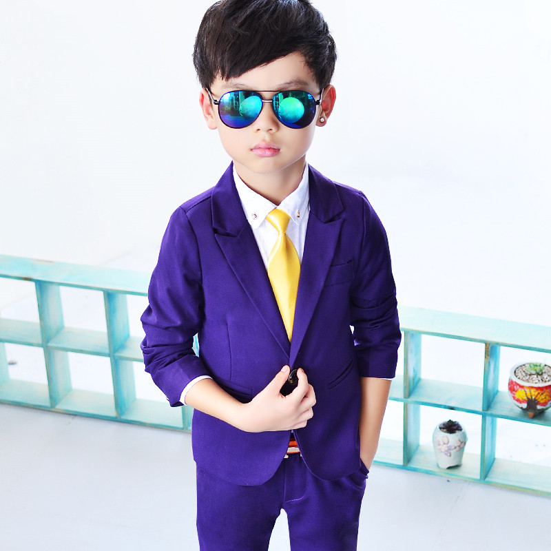New Arrival Kids Formal Wedding Clothes Suit Baby Boy Blazer Set Boys Tuxedo Suits Jacket + Pants Children Clothing For Weddings стоимость