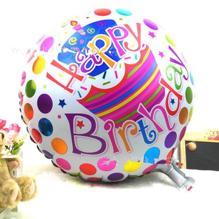 Aliexpresscom  Buy Pcslot  Inch Round Shaped Happy Birthday - Happy birthday 18 cake