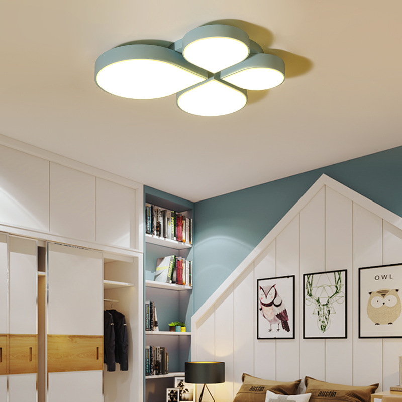 US $131.35 37% OFF|creative leaf LED ceiling lamp ceiling light lamparas de  techo led para comedor moderno lampara dormitorio lamparas techo-in ...