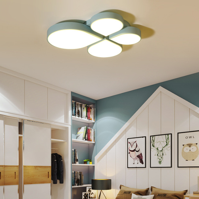 Creative leaf led ceiling lamp ceiling light lamparas de - Lamparas techo dormitorio ...