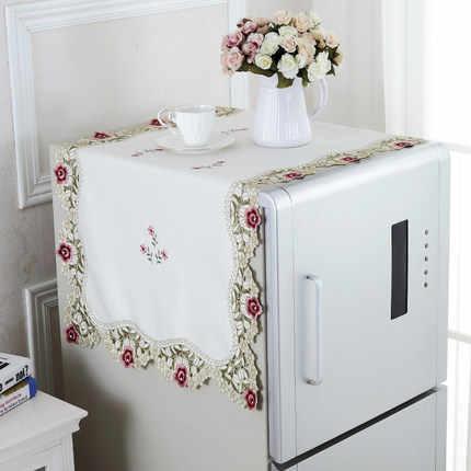 Бесплатная доставка 1 х евро элегантная Полиэстеровая узкая скатерть вышитые цветочные Ришелье скатерти дома деко поставка