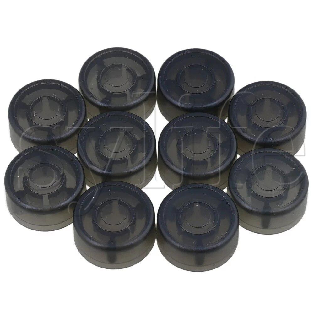 10PCS White Plastic Protection Cap for Electric Guitar Effect Pedal Knob