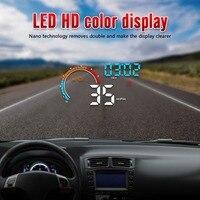 Universal Auto HUB OBD2/GPS Head Up Display Auto Geschwindigkeit Projektor Fahrzeug Windschutzscheibe Navigation OBD Tacho Hud D2500 Neue|Head-Up-Display|   -