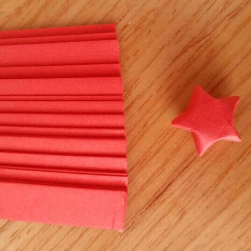 80 יח'\חבילה Handcraft אוריגמי לאקי סטאר נייר רצועות נייר אוריגמי Quilling נייר חג Relatation נייר צעצועי אקראי צבעים