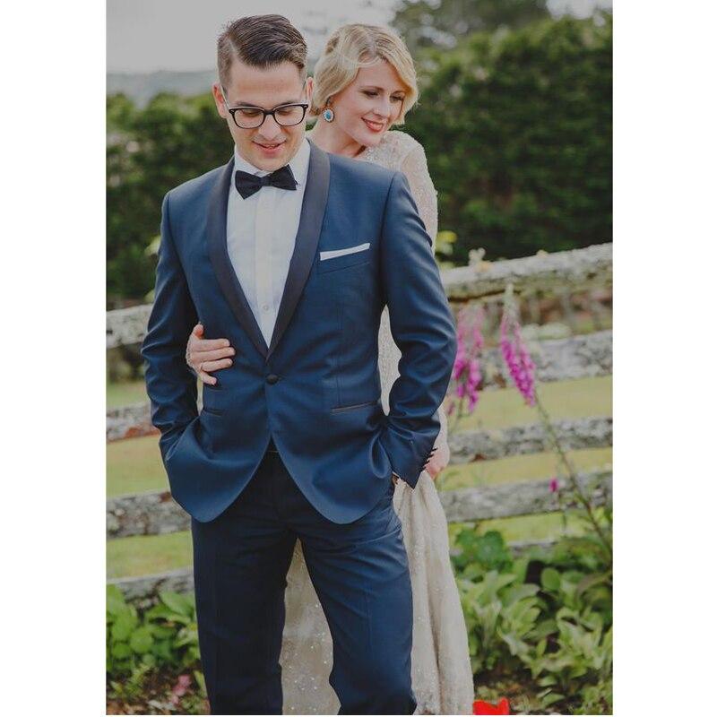 Costume Mariage Homme 2016 Custom Made Royal Blue font b Men b font Slim Fits font