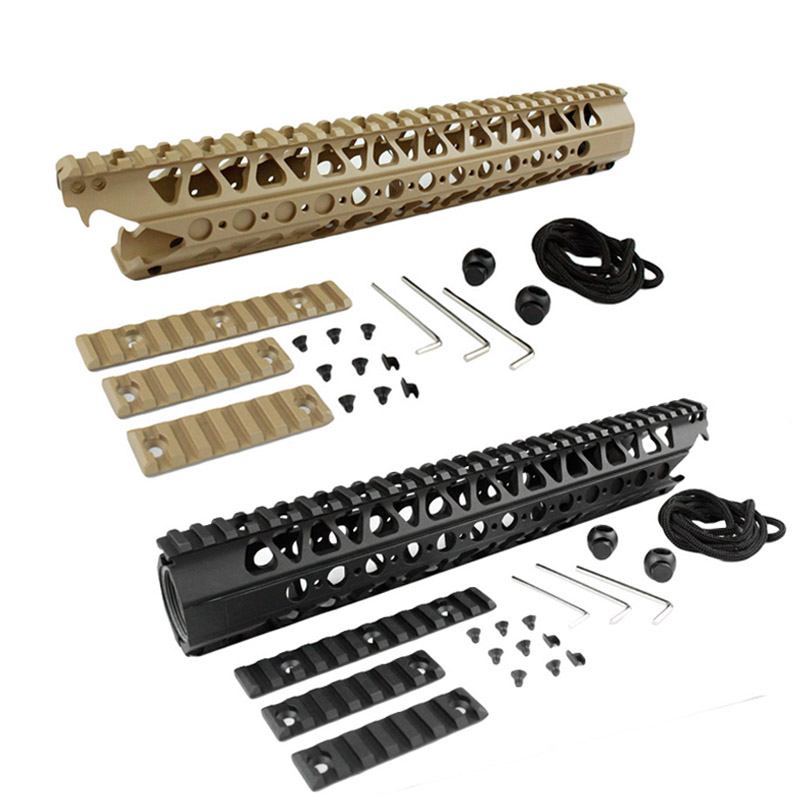 Airsoft Picatinny Rail 13.5 inch  LVOA-C Viper handguard Rail system for Airsoft AEG Hunting Accessories 12 durable mil spec style matte finish lightweight aluminium handguard picatinny quad hunting shooting rail for aeg m4 m16 ar15