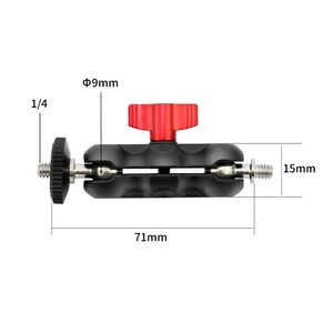 Image 3 - 소형 볼 헤드 + 클립이있는 알루미늄 조절 식 매직 암 카메라 모니터 용 슈퍼 클램프/1/4 나사가있는 led 라이트 지원