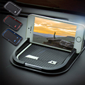 Accesorios interiores del coche antideslizante mat pad de navegación del teléfono Celular pad de coches de estilo AMG logo forMercedes Benz GLK GLA C CLA clase