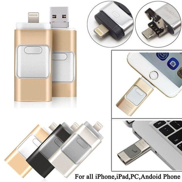 For iPhone 7 7s Plus 6 6S ipad Pen drive HD memory stick Dual purpose mobile OTG Micro USB Flash Drive 16GB 32GB 64GB PENDRIVE