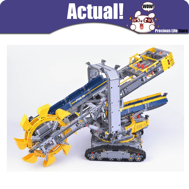 Bucket Wheel Excavator LEPIN 20015 Technic 3929Pcs DUMP TRUCK Power Functions Model Building blocks Bricks Toys Compatible 42055