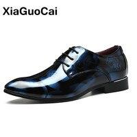 XiaGuoCai 2017 Autumn Mens Dress Shoes Oxford Shoes For Men Lace Rubber Pointed Toe Men S
