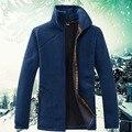 Sudaderas hombre 2015 ropa de marca camiseta de los hombres de invierno cálido fleece sudaderas con capucha del o-cuello patchwork hoodies envío gratis sizeX-4XL