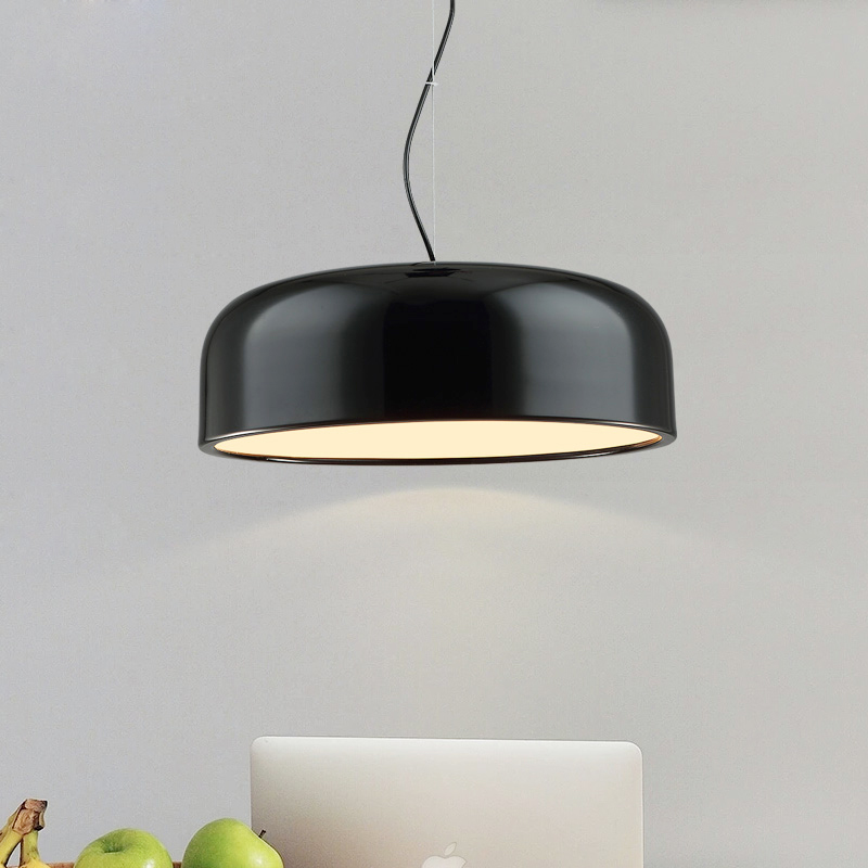 White&Black Modern Pendant Light lamp E27 socket Hanging Light Pendant Lamp Led Dining Room Bedroom Pendant Lighting 220V wrought iron pendant light modern brief lighting fitting bedroom lamp pendant lamp e27 5w white black body