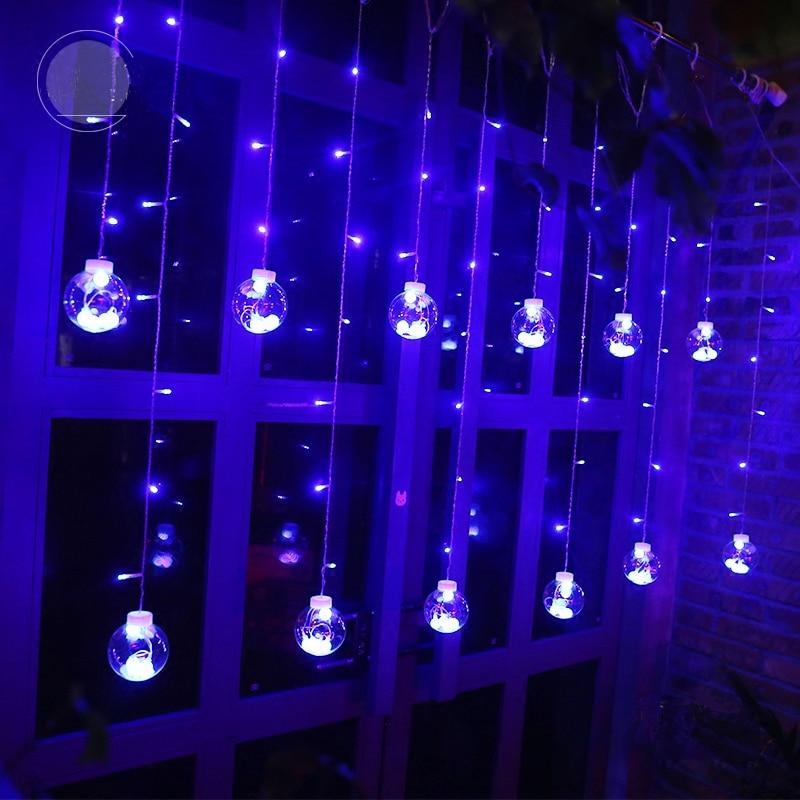 Led cortina icicle bola de hadas cadena deseando luces fiesta fiesta - Iluminación de vacaciones - foto 3
