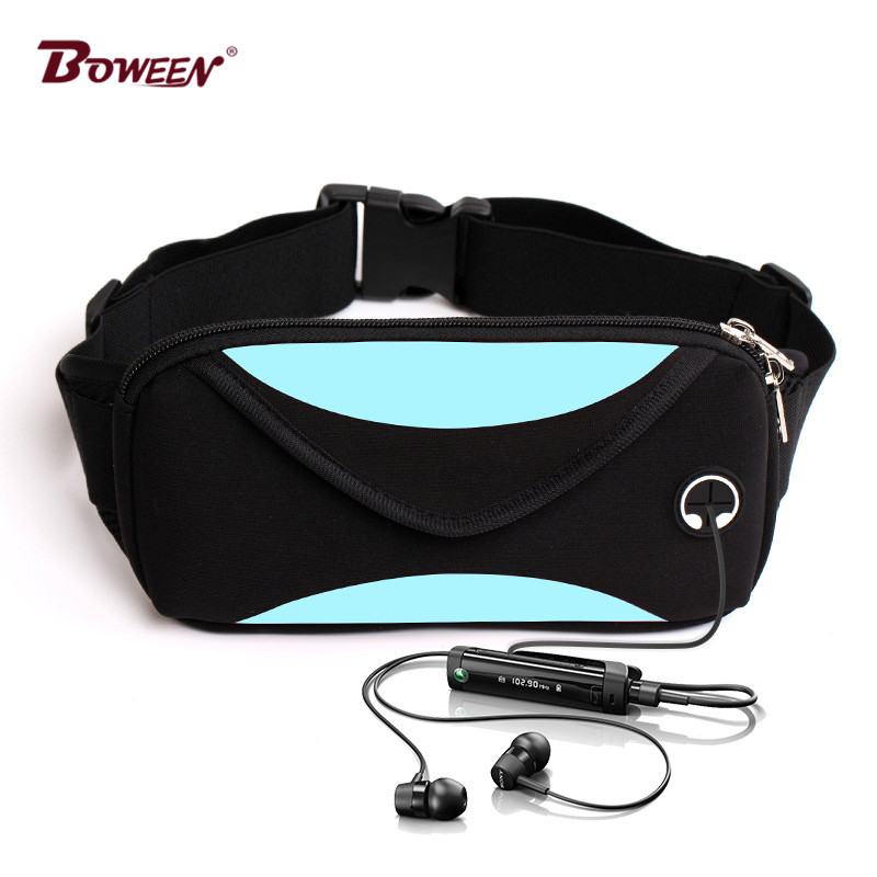 цена на Fashion women waist bag belt pouch men fanny pack belt bag waistbag phone unisex waist pack Casual Biking Pouch Bag