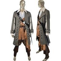 Unisex POTC Pirates of the Caribbean Captain Hector Barbossa Men Halloween Carnival Comic con Cosplay Pirate Costume
