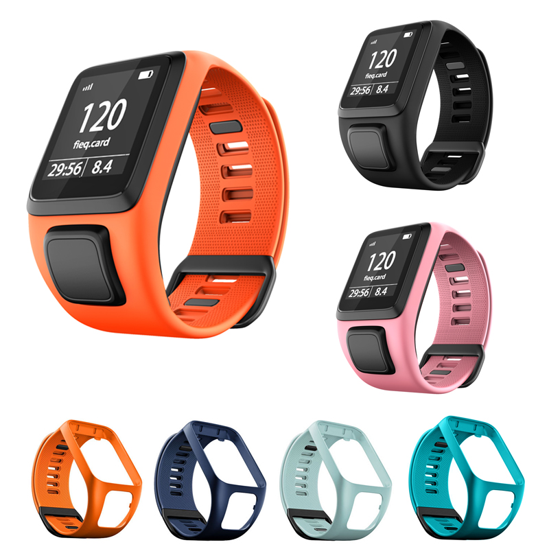 Replacement Silicone Wrist Band Strap For TomTom Runner 2 3 Spark 3 Adventurer Golfer 2 Spark Cardio GPS Sport Smart Watchband