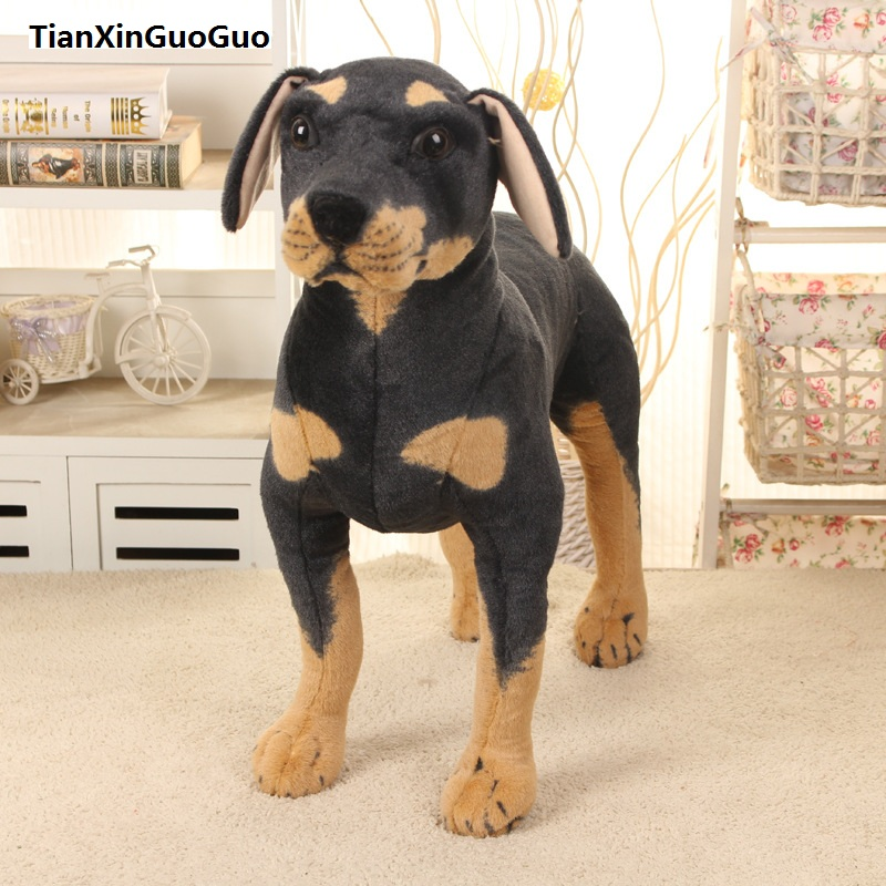 Фотография largest 70x70cm artificial Rottweiler dog prop, standing rottweiler dog plush toy,Christmas gift h0787