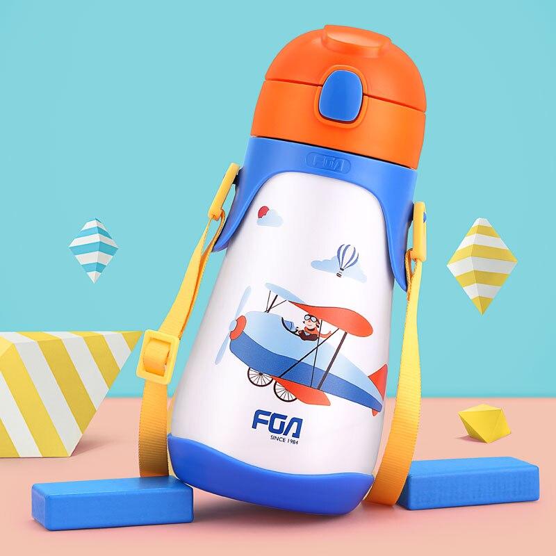 FZ6044 430 ml Nette Kinder Thermosflasche Trinkbecher Mit - Küche, Essen und Bar - Foto 4