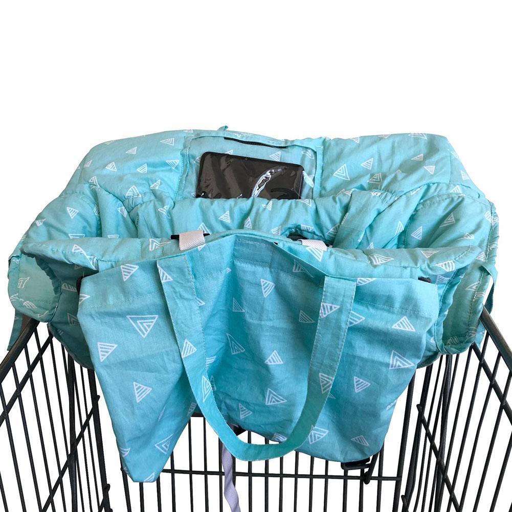 Портативная Детская Коляска Подушка супермаркет торговый обеденный стул коврик автомобильный защитный коврик безопасное сиденье для путешествий для детей - Цвет: Blue