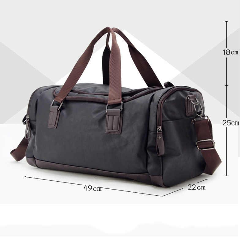 Мужская сумка большая Вместительная дорожная сумка модные сумки на плечо дизайнерская мужская сумка-мессенджер Повседневная сумка через плечо дорожные сумки 2019