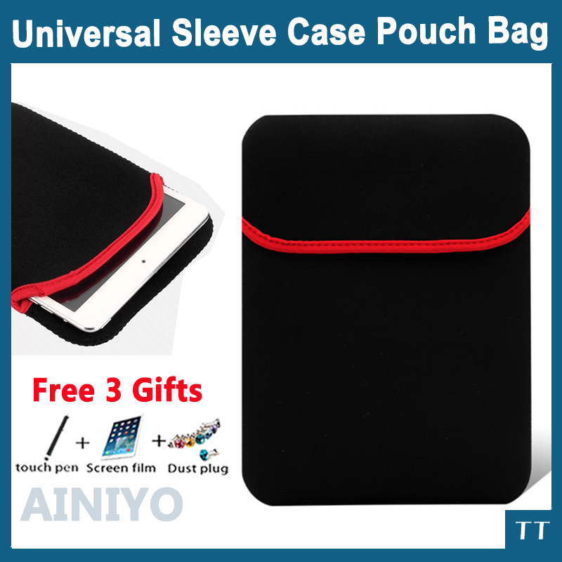 Universal PU inner sleeve for tablet pc laptop, 7,8,9.7,10.112''13''14'' inch mid case & bag & shell & cover+3 gifts
