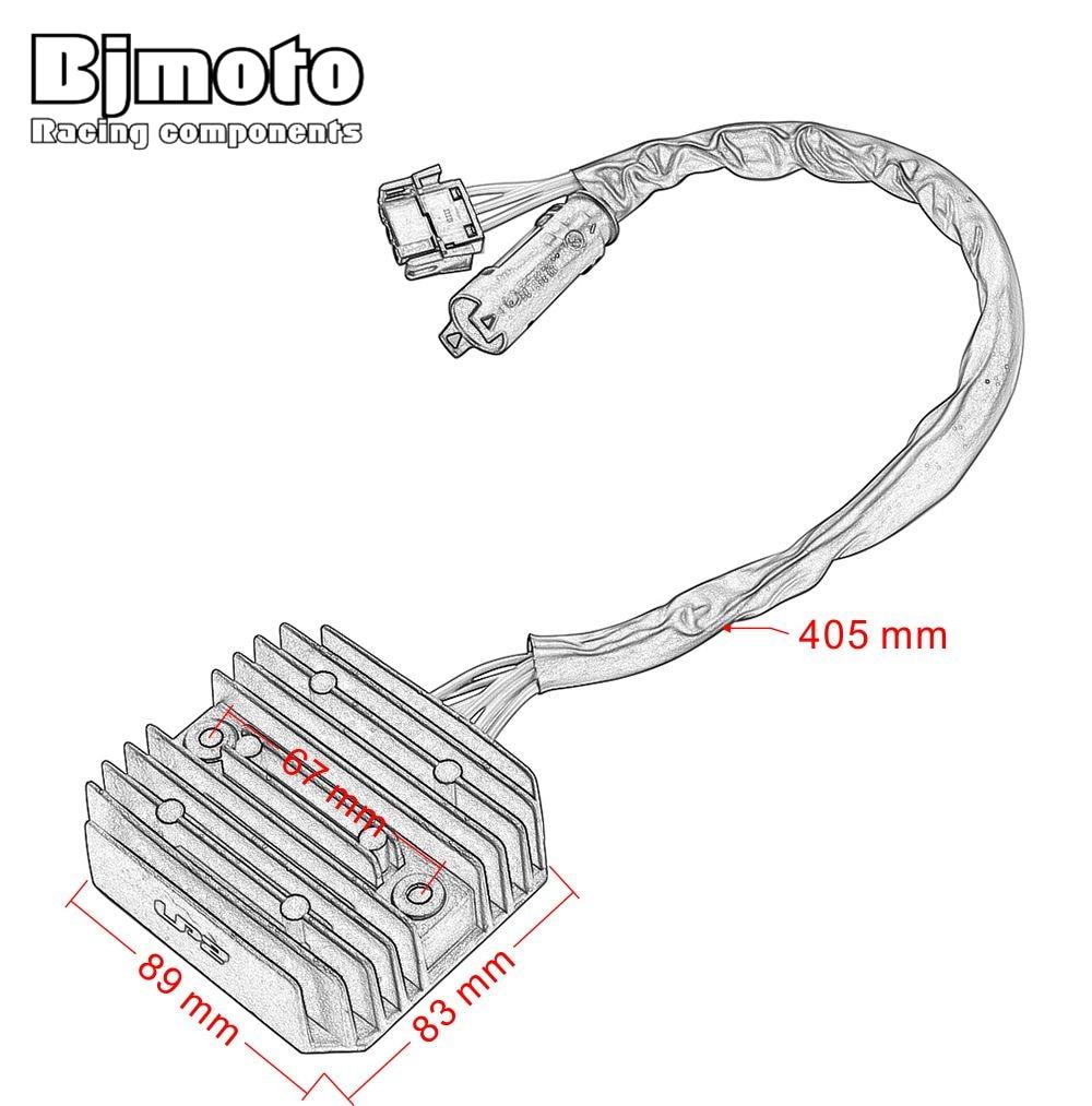 bjmoto motorcycle voltage regulator rectifier for bmw f800gs adv f800gt f800r f800s f700gs f650gs  [ 1000 x 1013 Pixel ]