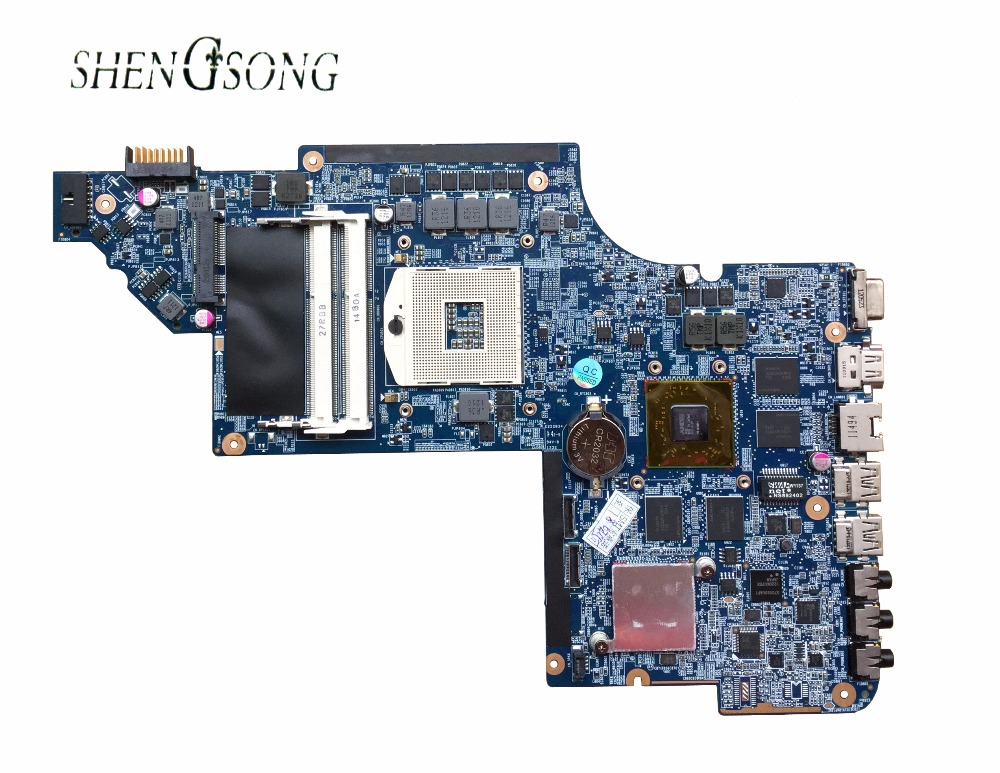 Original laptop Motherboard 650799-001 for HP PAVILION DV6 DV6-6000 motherboard HM65 HD6770/2G Notebook PC system board tested 645386 001 laptop motherboard for hp dv7 6000 notebook pc system board main board ddr3 socket fs1 tested working